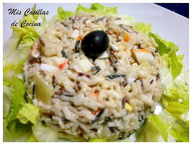 Ensaladilla de arroz con piña
