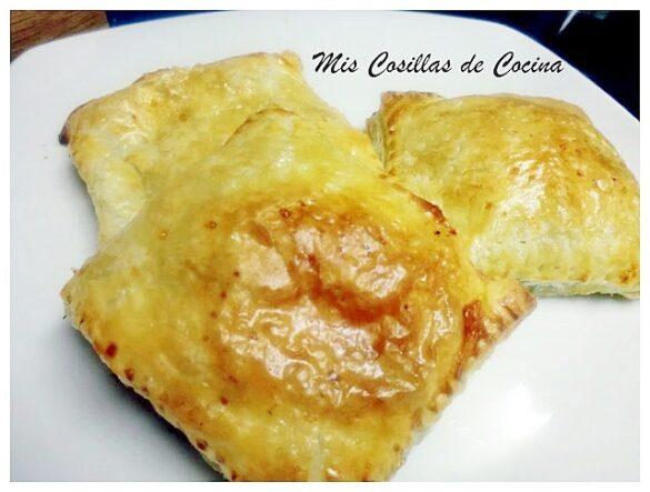 Hojaldres rellenos de espinacas y de Jamón y queso
