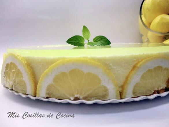 Tarta Mousse de limón con gelatina de gin tonic