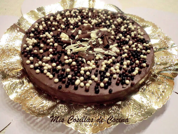 Tarta de chocolate con cuajada