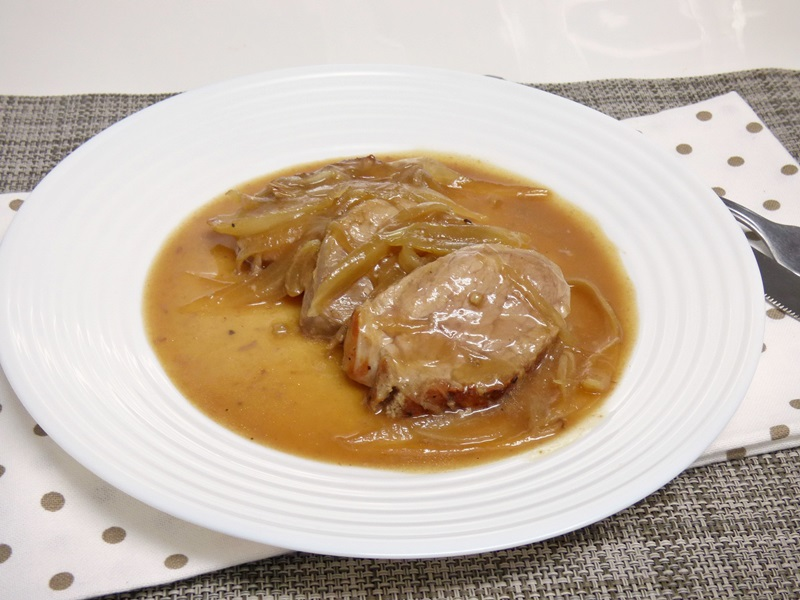 Solomillo de cerdo al vermut