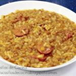 Lentejas con arroz y chorizo