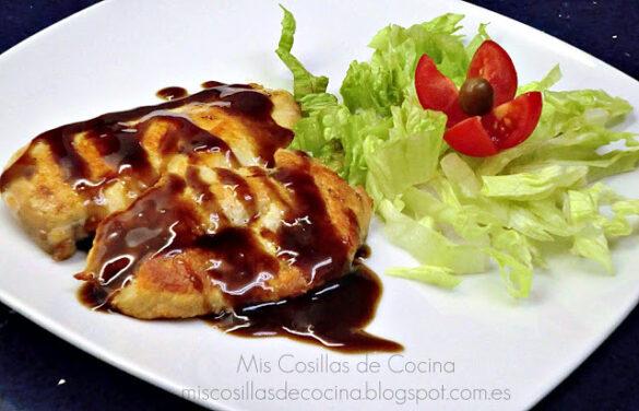 Pechugas de pollo con salsa agridulce