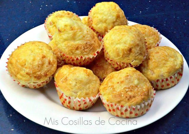 Muffins de Jamón york y queso