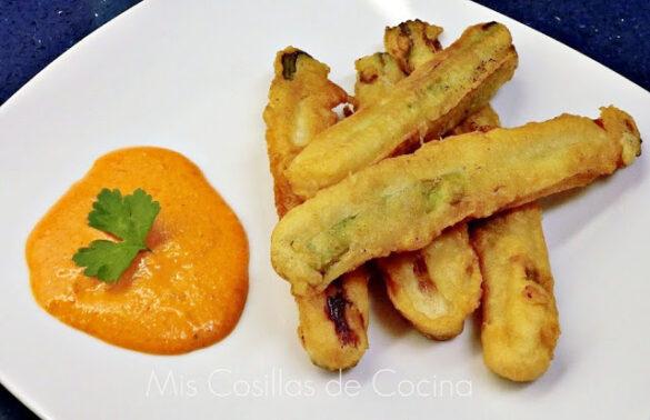 Calçots rebozados con tempura