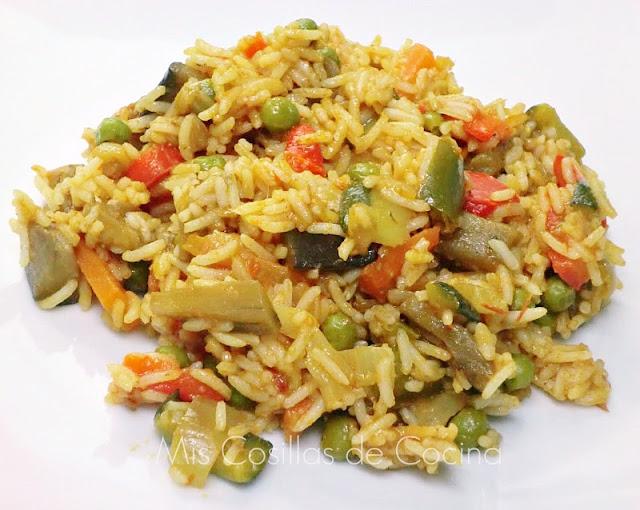 Arroz Basmati con verduras al curry