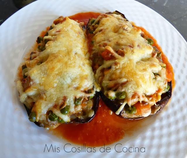 Berenjenas rellenas con champi ones y verduras mis for Cocina berenjenas rellenas