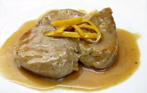 Solomillo de cerdo con salsa de naranja