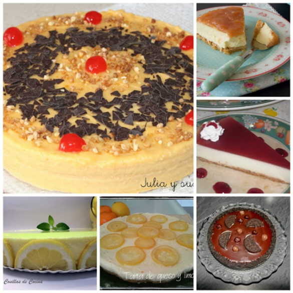 6 Tartas sin horno