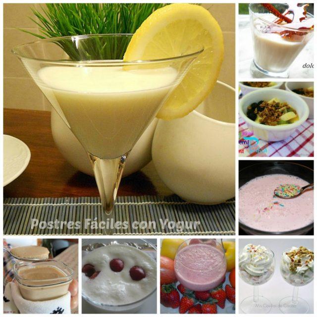 Postres fáciles con yogur