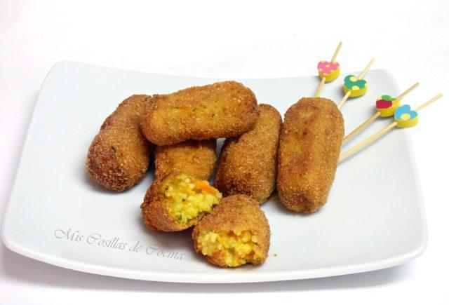 Croquetas de Mijo zanahoria y queso