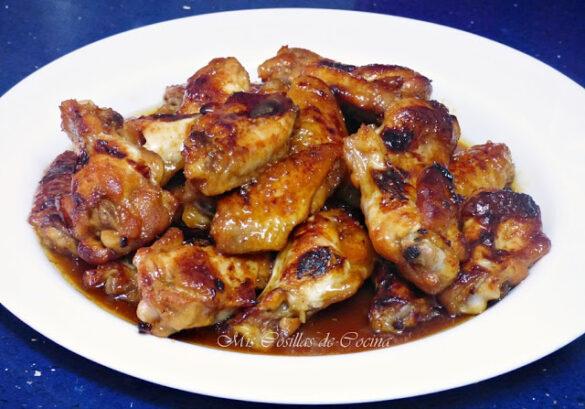Alitas de pollo a la miel