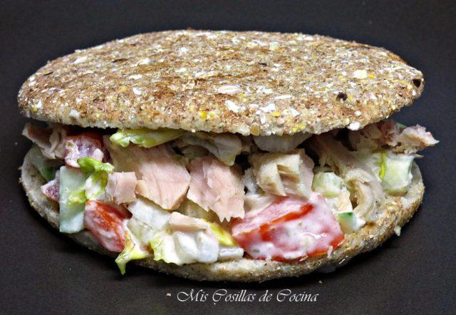 Sandwich de bonito en aceite