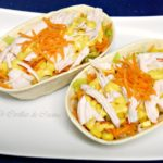 Barquitas Mexicanas con ensalada, pollo