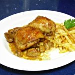 Pollo-al-horno-con-champiñones-facil