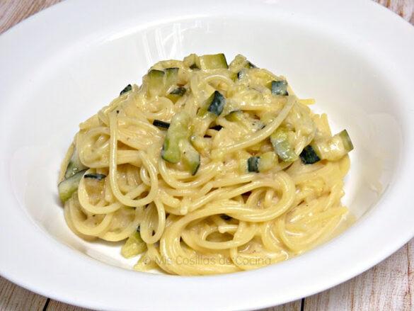 Espaguetis con calabacines