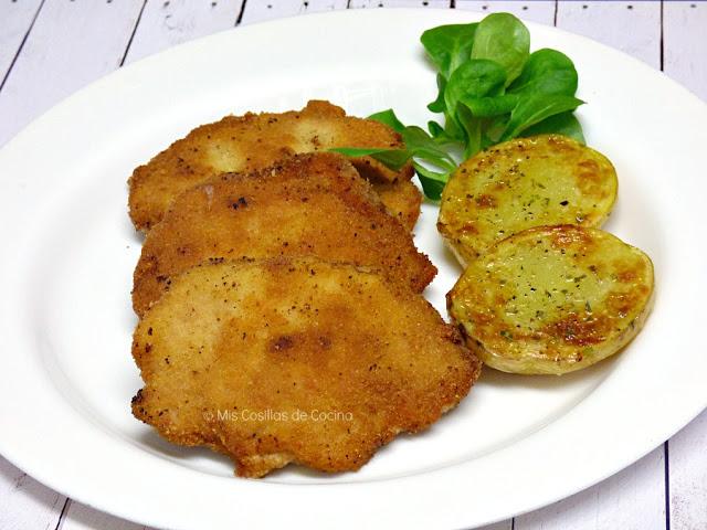 Libritos de lomo rellenos de paté y queso