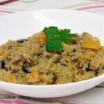 Risotto de quinoa, calabaza y portobello