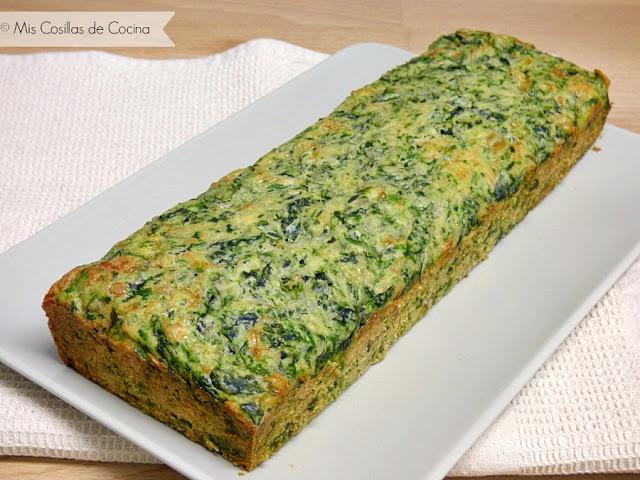 Plum-Cake de espinacas y queso