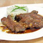Costilla de cerdo con salsa de soja