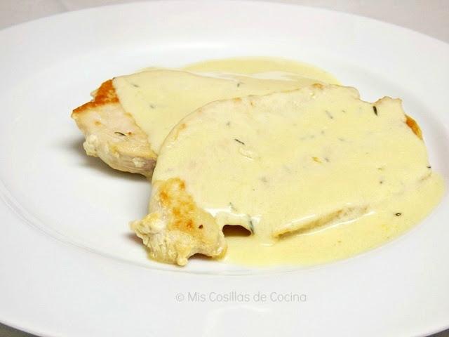 Pechugas de pollo con salsa de mostaza a la miel