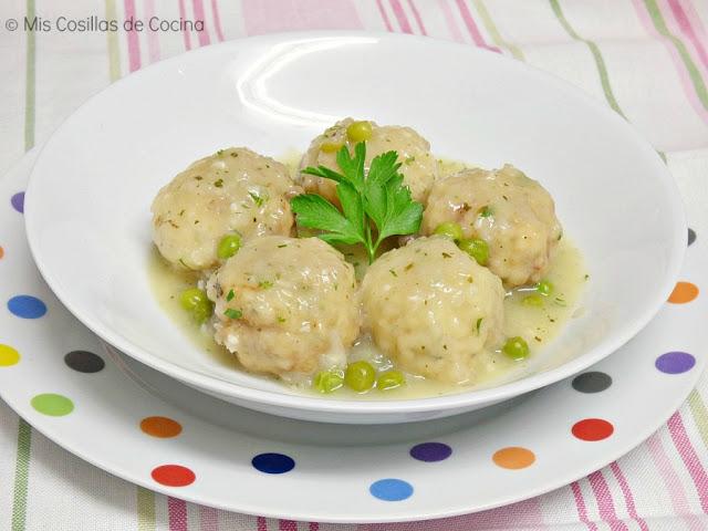 Albóndigas de abadejo en salsa verde