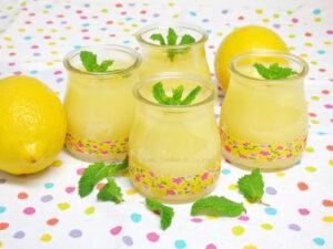 Vasitos con Crema de limón