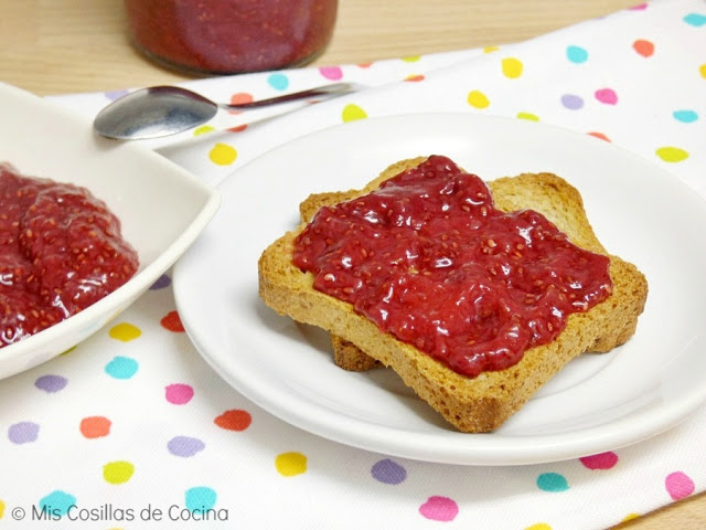 como hacer mermelada de fresas y chia