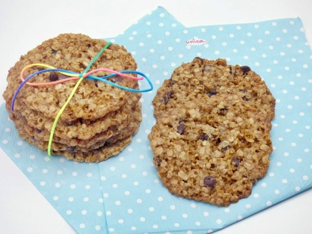 Galletas de avena y chocolate