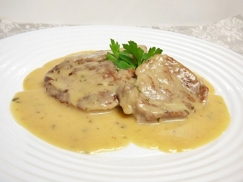 solomillo de cerdo con salsa de yogur