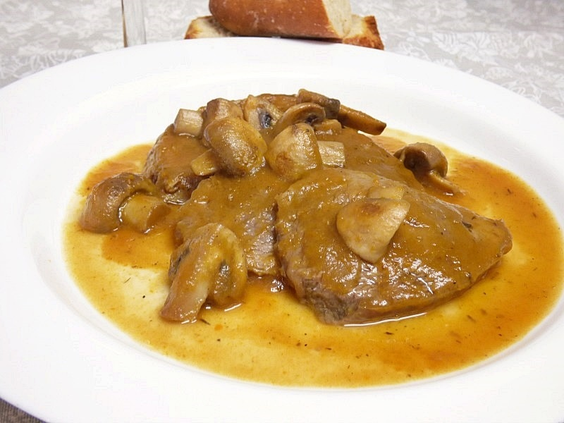 Redondo de ternera al horno con salsa