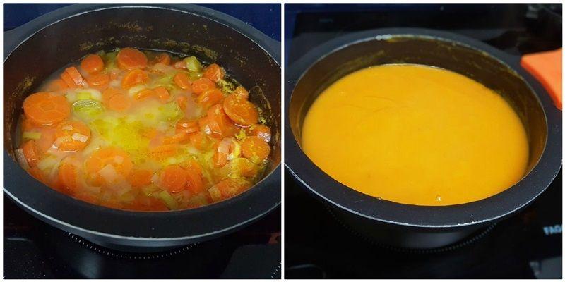 Crema de zanahorias al aroma de naranja