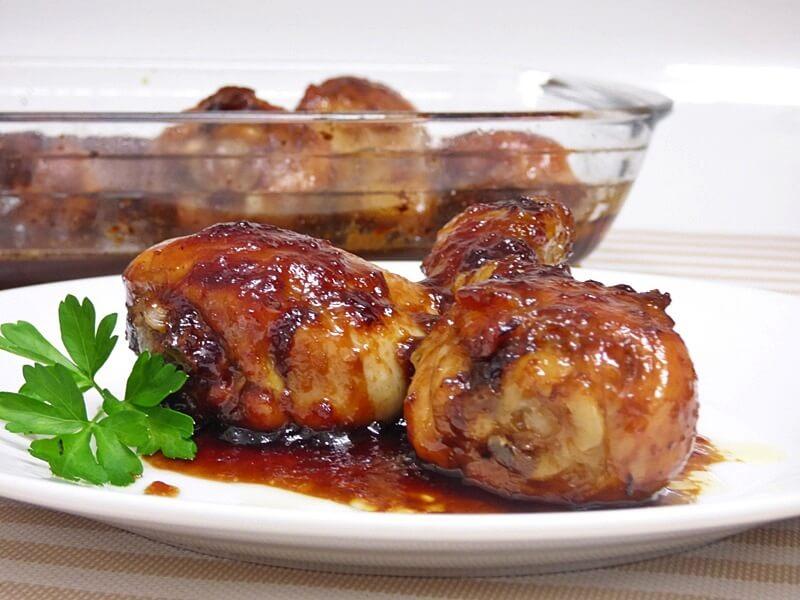 Muslitos de pollo al horno al Pedro Ximénez