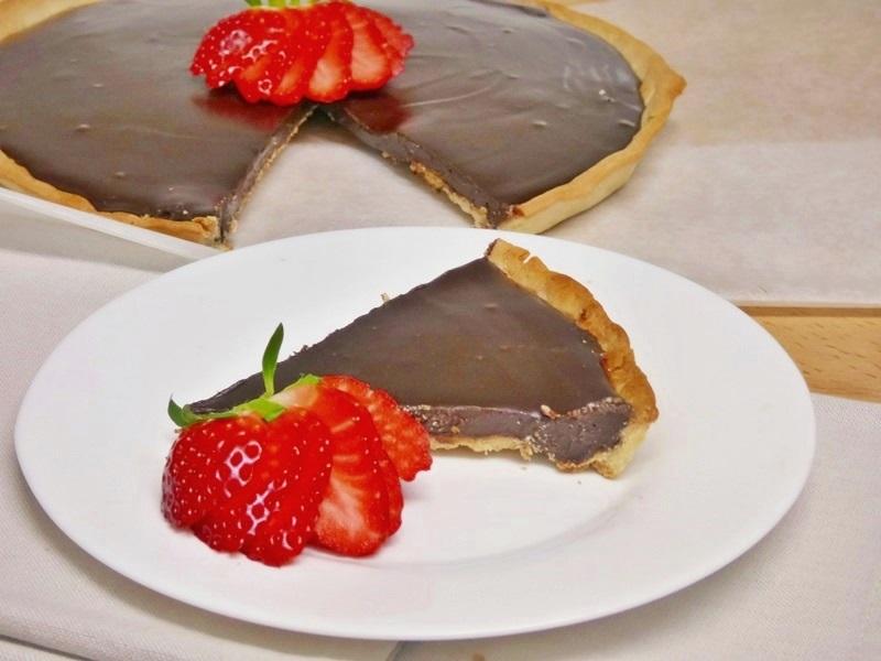 Tarta sencilla de chocolate