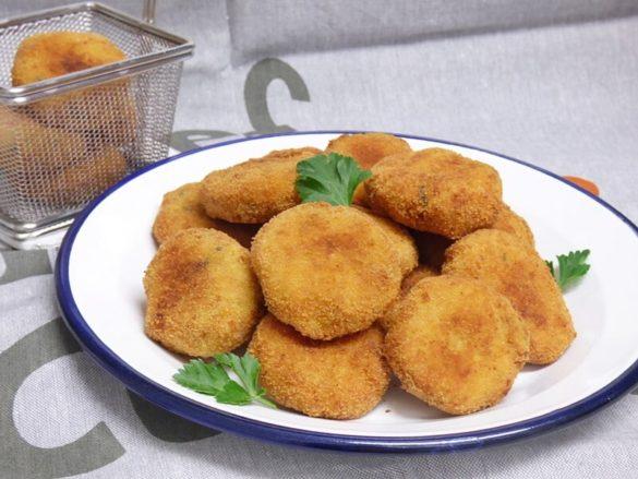Croquetas de garbanzos y queso