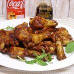 Alitas de pollo a la Coca Cola