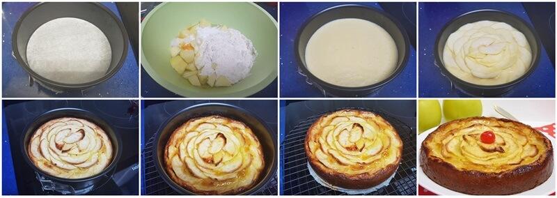 paso a paso tarta de manzana