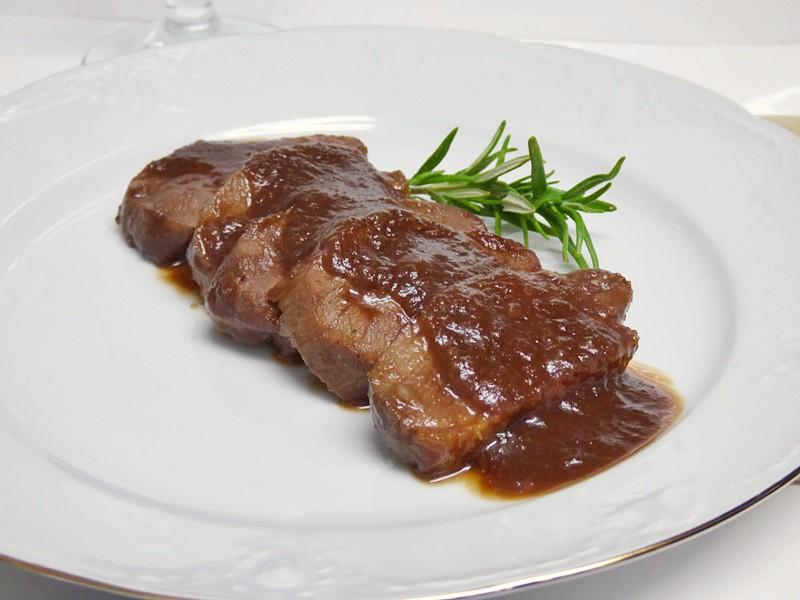 Magret de pato con salsa agridulce