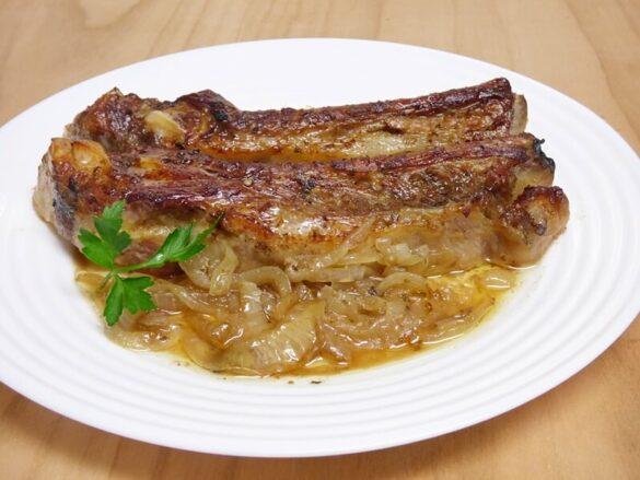 Costilla de cerdo al horno