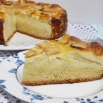 Tarta de queso y manzana