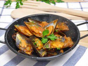 Mejillones con salsa picante