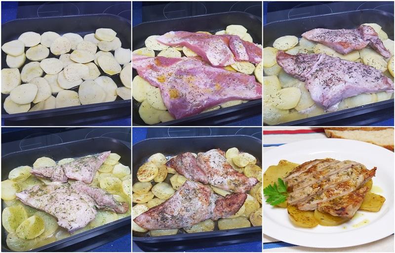 Secreto de cerdo al horno