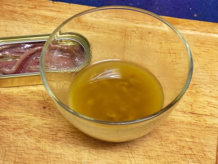 vinagreta de anchoas
