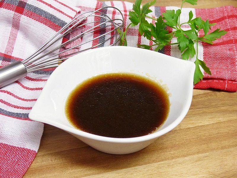Vinagreta de soja y miel