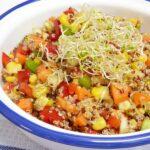 Ensalada de quinoa con vinagreta de soja