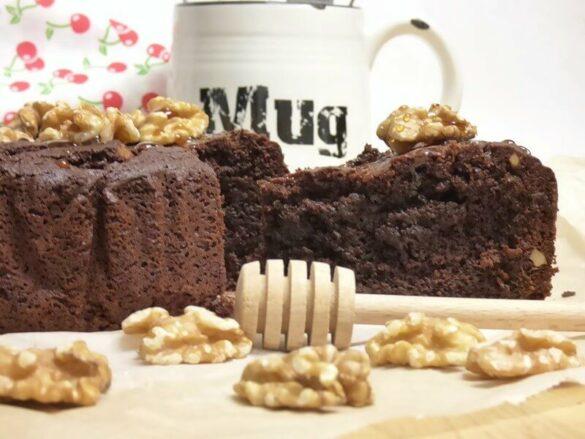 Bizcocho rústico de chocolate