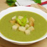 Crema verde de verduras con quesitos