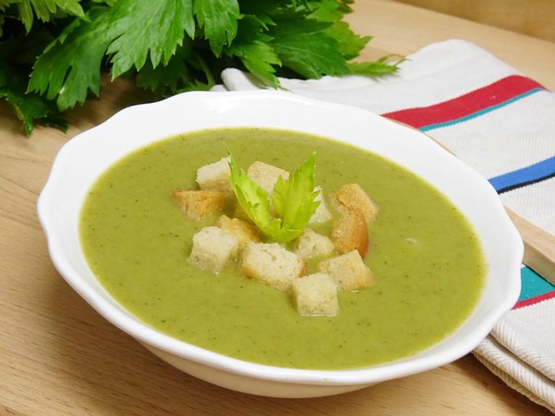 Crema verde de verduras