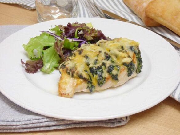Pechugas de pollo rellenas con espinacas y queso