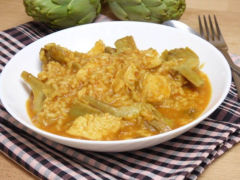 Arroz Meloso Con Pollo Y Alcachofas Mis Cosillas De Cocina